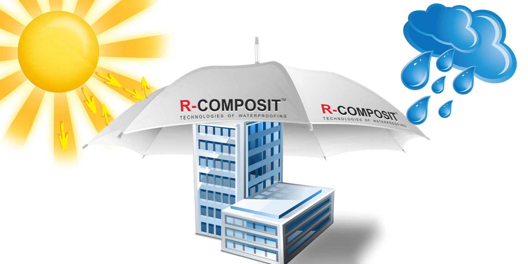 Гидроизоляционное покрытиеR-COMPOSIT-это полимерный безбитумный материал широкого спектра применения. Данный продукт был разработан с использованием самых современных технологий и материалов.R-COMPOSITобладаетуникальными свойствами - высочайшей прочностью, стойкостью к статическому воздействию воды, является стойким к воздействию растворов солей и щелочей.